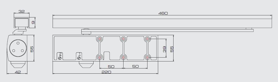 Дверной доводчик JDC-E45G