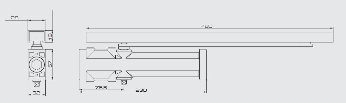 Дверной доводчик JDC-i80G