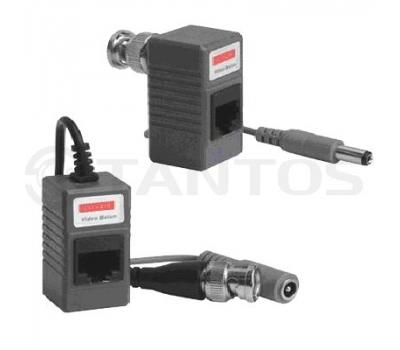 Комплект пассивных приемопередатчиков видеосигнала  и питания по витой паре TSt-1U01PP