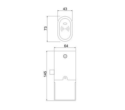 Электромеханический замок для мебели Z-396 EHT
