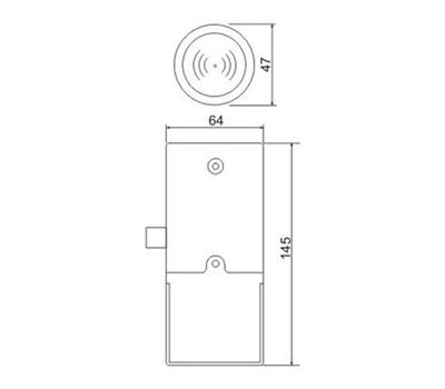 Электромеханический замок для мебели Z-395 EHT