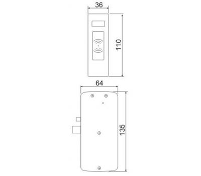 Электромеханический замок для мебели Z-496 EHТ